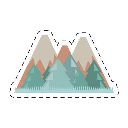 fiambres: mountains travel landscape nature cut line vector illustration eps 10 Vectores