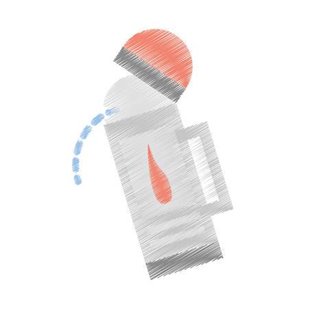 gas lamp: drawing lantern camping vintage gas vector illustration eps 10