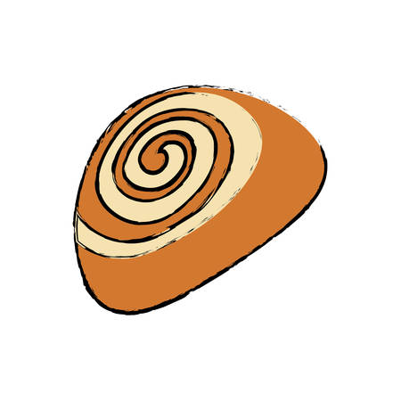 dessert buffet: Sweet roll bread icon vector illustration graphic design