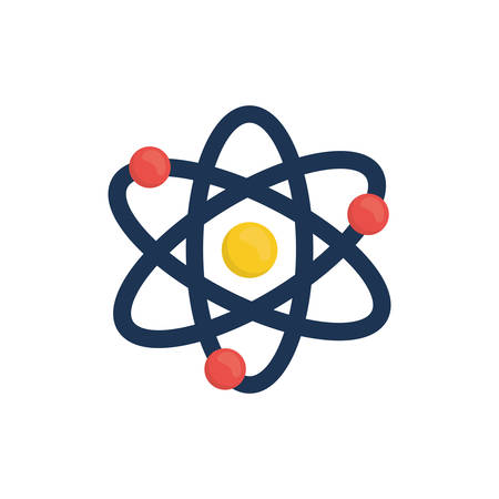 Atom molecule isolated icon vector illustration graphic design