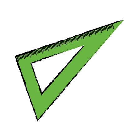 setsquare: Set square ruler icon vector illustration graphic design