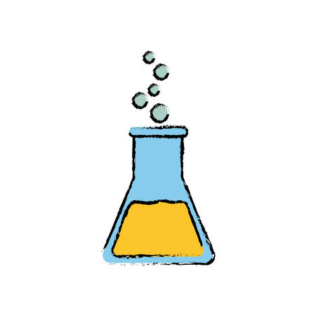 Flask chemistry isolated icon vector illustration graphic design Illustration