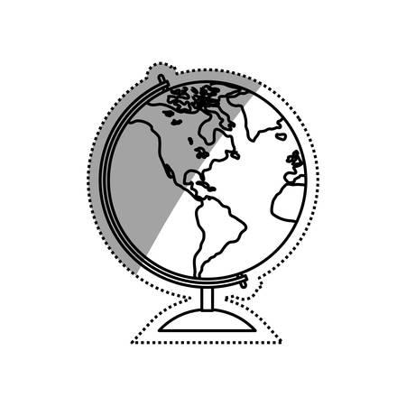 globe terrestre dessin: School world globe icon vector illustration graphic design