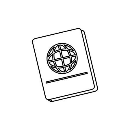 emigration and immigration: Passport travel isolated icon vector illustration graphic design Illustration