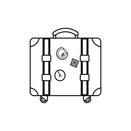 isolates: Travel suitcase isolated icon vector illustration graphic design Illustration
