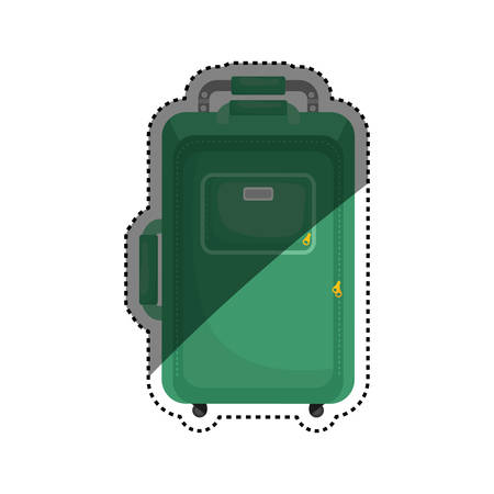 suitcase packing: Travel suitcase isolated icon vector illustration graphic design Illustration