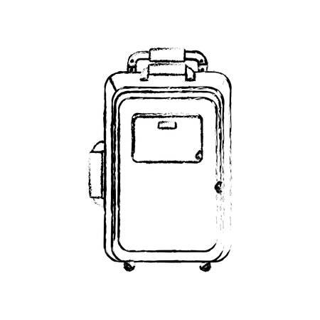 Travel suitcase isolated icon vector illustration graphic design Illustration
