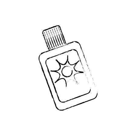 sub: Sub bronzer bottle icon vector illustration graphic design Illustration