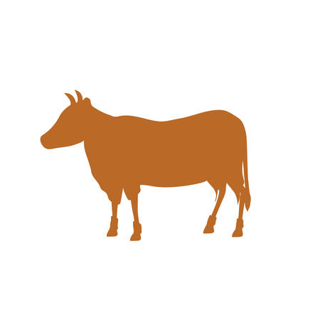Beef meal silhouette icon vector illustration graphic design