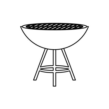 BBQ grill isolated icon vector illustration graphic design
