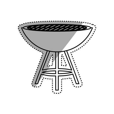 barbecue stove: BBQ grill isolated icon vector illustration graphic design