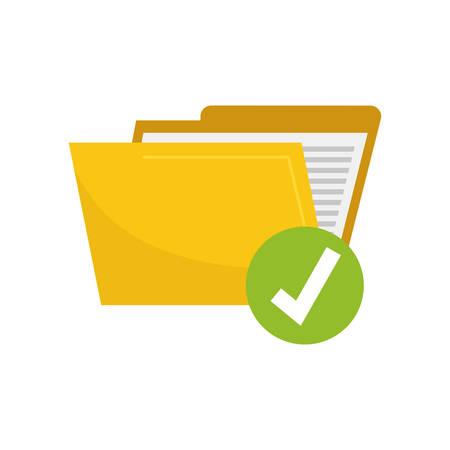 Folder data opslag pictogram vector illustratie grafisch ontwerp