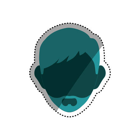 Man head silhouette icon vector illustration graphic design Illustration
