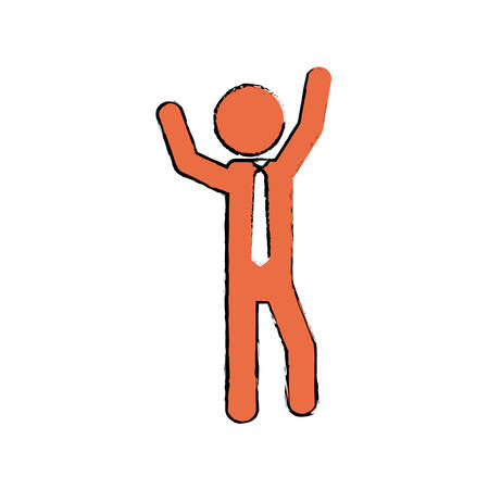 Businessman executive profile icon vector illustration graphic design Illustration