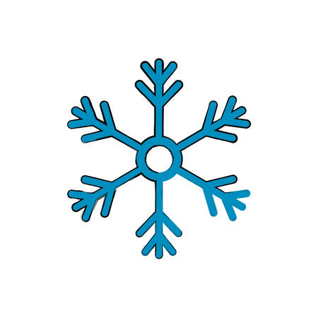 Snowflake winter symbol icon vector illustration graphic design