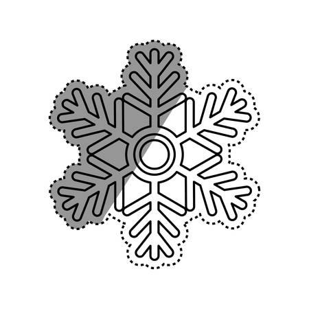 fiambres: Snowflake winter symbol icon vector illustration graphic design