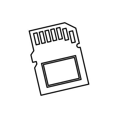 sd: Micro SD memory card icon vector illustration graphic design