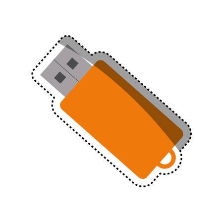 USB storage device icon vector illustration graphic design