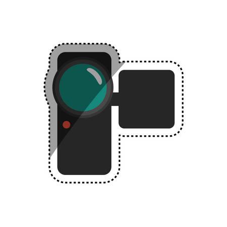 motion picture: Portable digital camcorder icon vector illustration graphic design Illustration