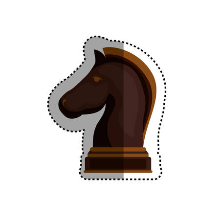chess rook: Chess game concept icon vector illustration graphic design