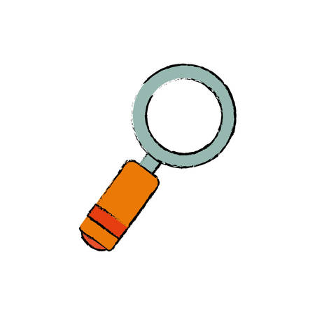 Magnifying glass lupe icon vector illustration graphic design Illustration