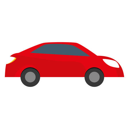 red car city scene image design icon, vector illustration