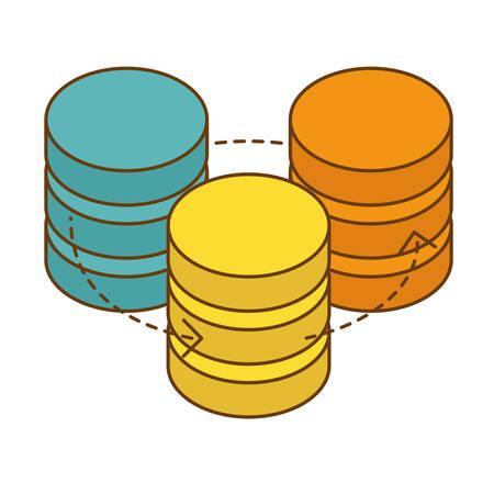 database hosting icon image design, vector illustration