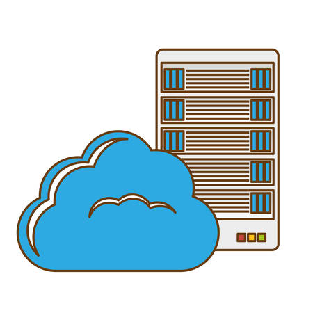 interpreter: data hosting optimization application related icon, vector illustration Illustration