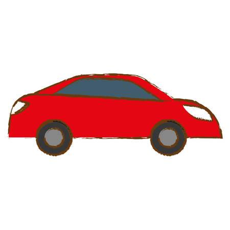 red car city scene image design icon, vector illustration