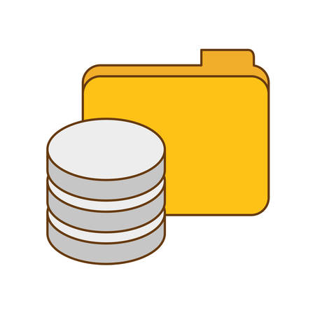 data center related icon image design, vector illustration