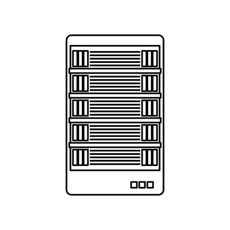 figure web hosting related icons image vector illustration design Illustration