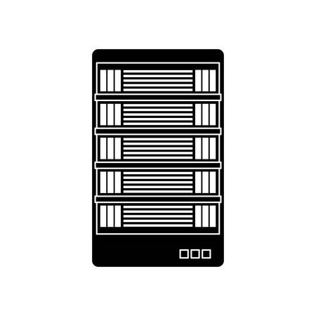 black web hosting related icons image vector illustration design