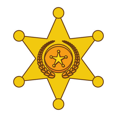 gold police bradge icon design, vector illustration