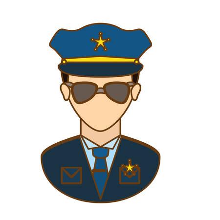 lightbar: police officer icon image design, vector illustration Illustration