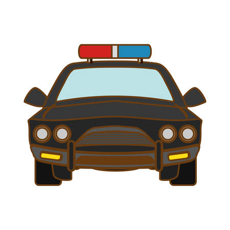 patrol: car police icon image, vector illustration design