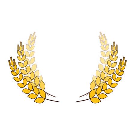 wheat branches icon image design, vector illustration