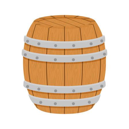 distillery: wooden barrel icon image design, vector illustration