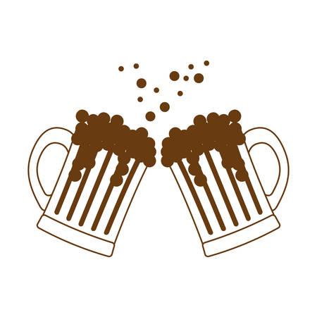 beer glasses icon image design, vector illustration