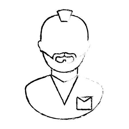 figure arrested man icon image, vector illustration Illustration