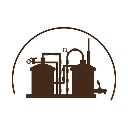 boiling tube: beer tanks icon image design, vector illustration