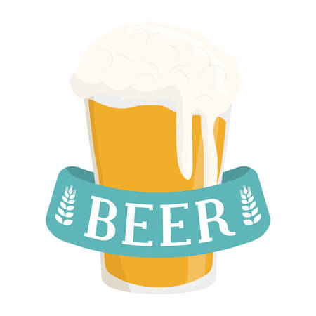 glass beer icon image design, vector illustration Illustration