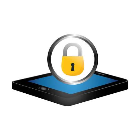 digital or internet security icon image vector illustration design