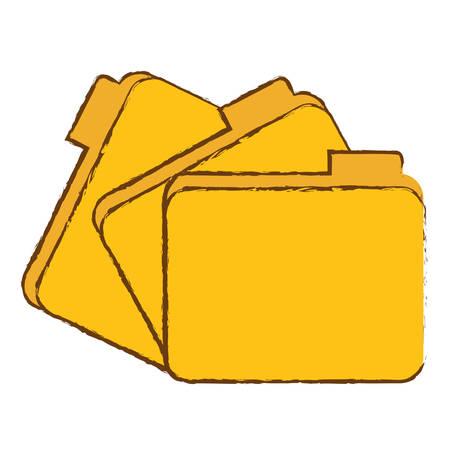 file folder icon image sketch style vector illustration design