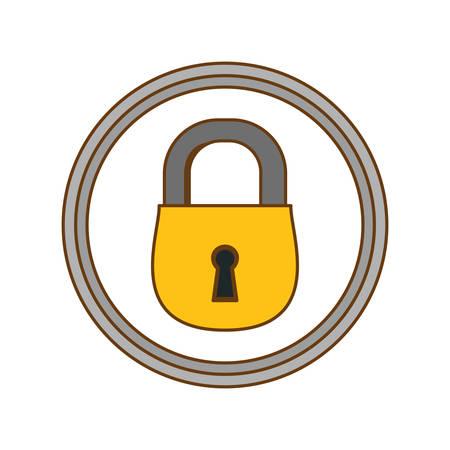 color lock icon image design, vector illustration Illustration