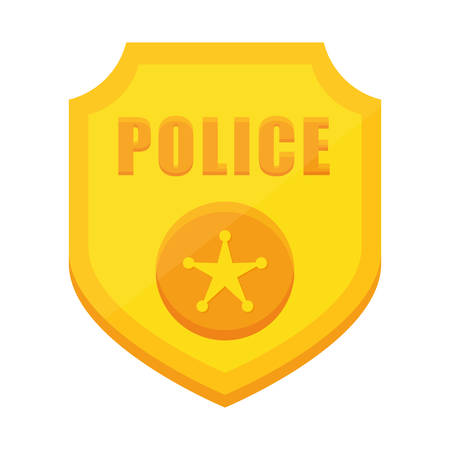 police badge icon image vector illustration design