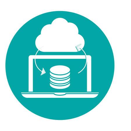 data center storage two tone button icon image vector illustration design