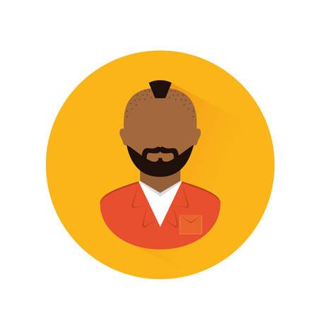 villain: jail prisoner with dark skin icon image vector illustration design