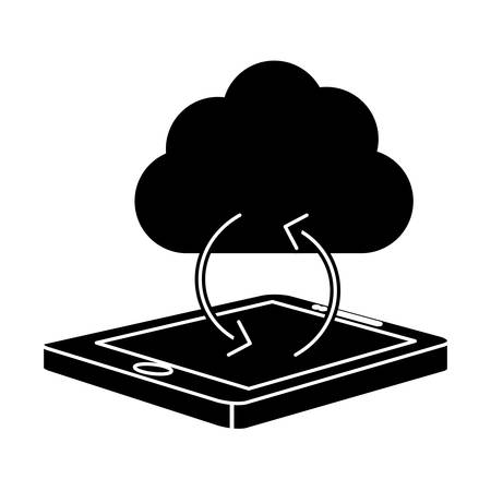 smartphone optimization and tuning data center icon, vector illustration
