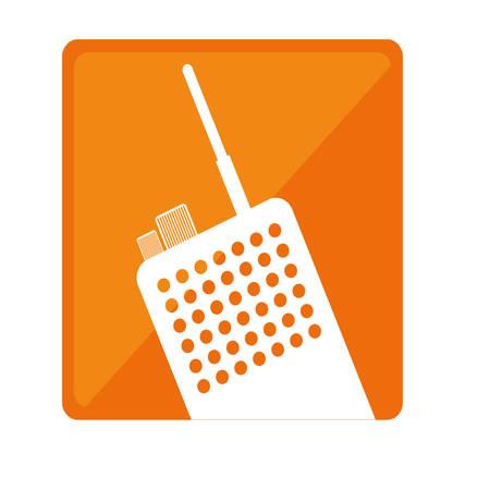 portable radio: walkie talkie or radio two tone button icon image vector illustration design
