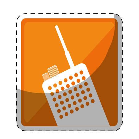 walkie talkie or radio two tone button icon image vector illustration design